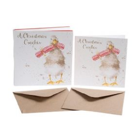 Wrendale Christmas Cracker Duck Box of 8 Christmas Cards